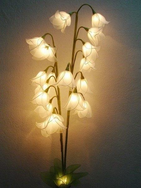Цветок светильник своими руками